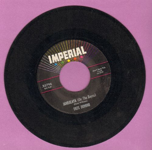 Domino, Fats - Jambalaya (On The Bayou)/I Hear You Knocking  - VG7/ - 45 rpm Records