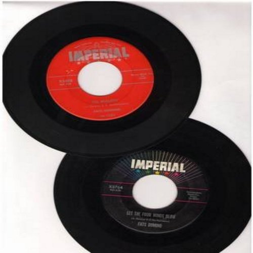 Domino, Fats - I'm Walkin'/Let The Four Winds Blow (2 original first issue 45rpm records for the price of 1!) - VG7/ - 45 rpm Records