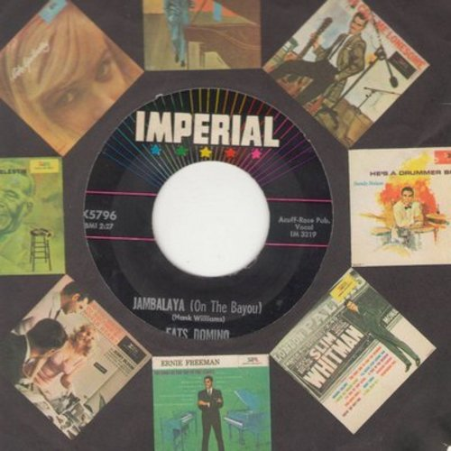 Domino, Fats - Jambalaya (On The Bayou)/I Hear You Knocking (with Imperial company sleeve) - EX8/ - 45 rpm Records