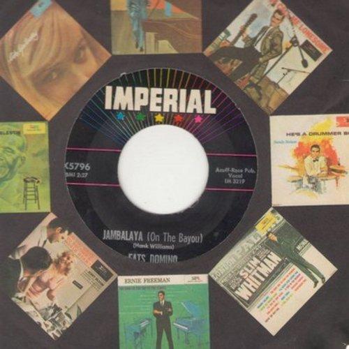 Domino, Fats - Jambalaya (On The Bayou)/I Hear You Knocking (with Imperial company sleeve) - EX8/ - 45 rpm Records