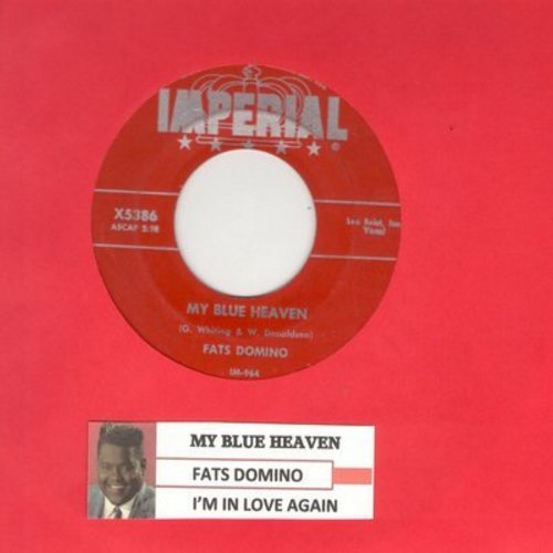 Domino, Fats - My Blue Heaven/I'm In Love Again (burgundy label first issue with juke box label) - VG7/ - 45 rpm Records