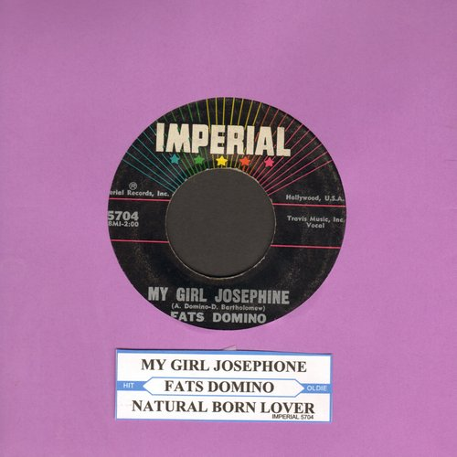 Domino, Fats - My Girl Josephine/Natural Born Lover (with juke box label) - EX8/ - 45 rpm Records