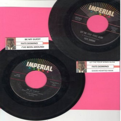Domino, Fats - 2 for 1 Special: Be My Guest/Let The Four Winds Blow (2 vintage first issue 45rpm records with juke box labels for the price of 1!) - VG7/ - 45 rpm Records