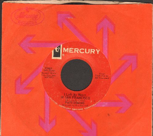 Domino, Fats - I Left My Heart In San Francisco/I Done Got Over It (with Mercury company sleeve) - EX8/ - 45 rpm Records