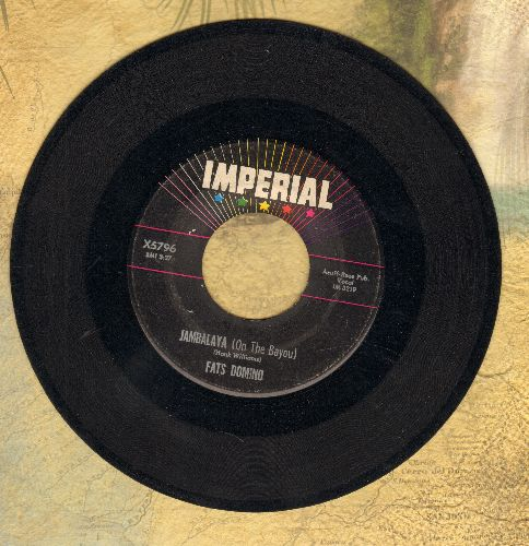 Domino, Fats - Jambalaya (On The Bayou)/I Hear You Knocking  - VG6/ - 45 rpm Records