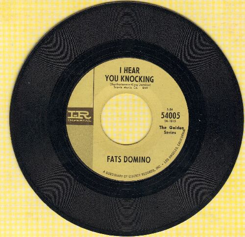 Domino, Fats - I Hear You Knocking/I'm Gonna Be A Wheel Some Day (authentic-looking double-hit re-issue) - EX8/ - 45 rpm Records