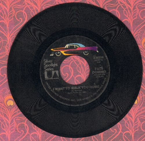 Domino, Fats - I Want To Walk You Home/It's You I Love (double-hit 1970s re-issue of vintage recordings) - EX8/ - 45 rpm Records
