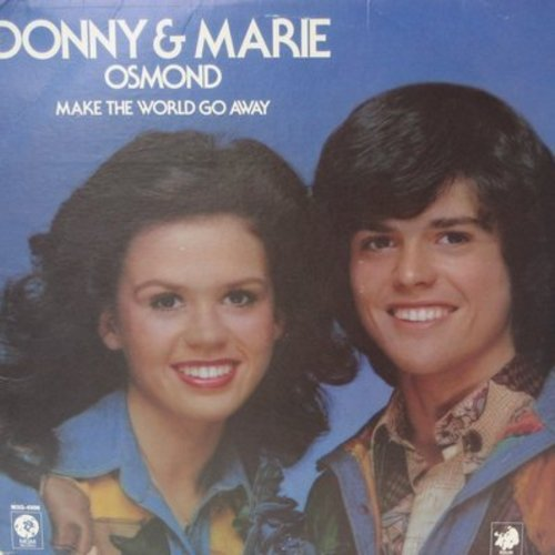 Osmond, Donny & Marie - Make The World Go Away: It's All In The Game, Mama Didn't Lie, When You're Young And In Love (Vinyl STEREO LP record) - M10/EX8 - LP Records