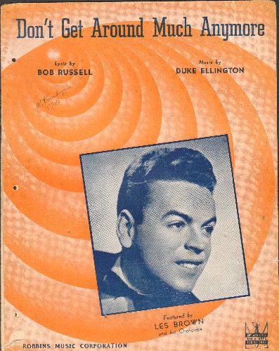 Ellington, Duke & His Orchestra - Don't Get Around Much Anymore - Vintage SHEET MUSIC for the Duke Ellington Jazz Classic - VG6/ - Sheet Music