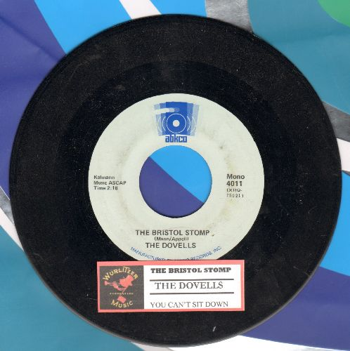 Dovells - The Bristol Stomp/You Can't Sit Down (double-hit re-issue with  juke box label) - NM9/ - 45 rpm Records