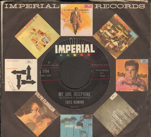 Domino, Fats - My Girl Josephine/Natural Born Lover (with Imperial company sleeve) - NM9/ - 45 rpm Records