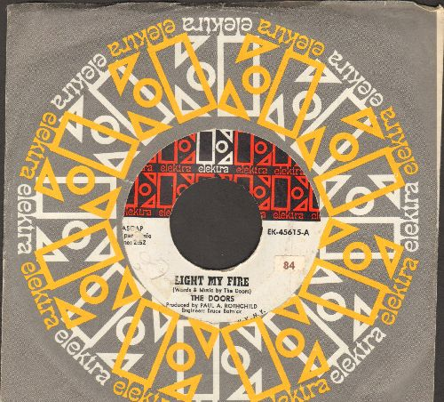 Doors - Light My Fire/Crystal Ship (with vintage Elektra company sleeve) - EX8/ - 45 rpm Records