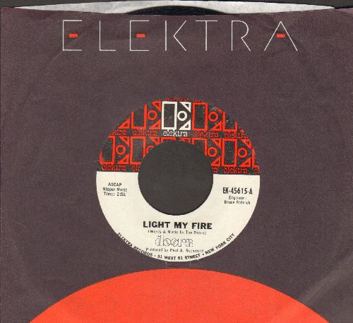 Doors - Light My Fire/Crystal Ship (with black/red Elektra company sleeve) - EX8/ - 45 rpm Records