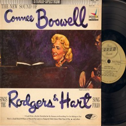 Boswell, Connee - Connee Boswell sings the Rodgers & Hart Song Folio: Bewitched, The Lady Is A Tramp, Where Or When, My Funny Valentine (Vinyl STEREO LP record) - NM9/VG7 - LP Records