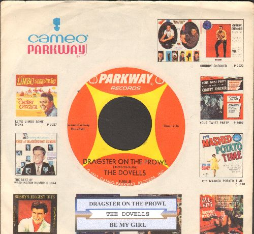 Dovells - Dragster On The Prowl/Be My Girl (with juke box label and RARE company sleeve) - NM9/ - 45 rpm Records