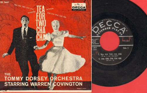 Dorsey, Tommy Orchestra Starring Warren Covington - Tea For Two Cha Cha/Patricia/Dansero/Cha Cha Cha For Gia (Vinyl EP record with picture cover) - VG7/EX8 - 45 rpm Records