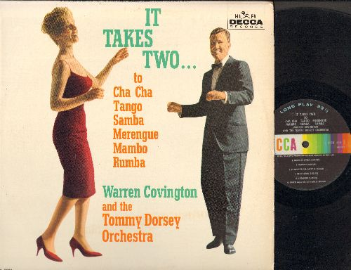 Covinton, Warren & The Tommy Dorsey Orchestra - It Takes Two…To Cha Cha, Tango, Samba, Merengue, Mambo, Rhumba (Vinyl MONO LP record) - EX8/EX8 - LP Records