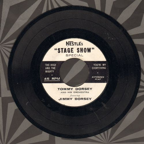 Dorsey, Tommy & His Orchestra featuring Jimmy Dorsey - Nestle's Stage Show: The High And The Mighty/You're My Everything/Granada/Silk Stockings (vinyl EP record, RARE Nestle Company Special Promo Pressing!) - NM9/ - 45 rpm Records