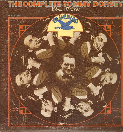 Dorsey, Tommy & His Orchestra - The Complete Tommy Dorsey Vol 2/1936: At The Codfish Ball, Long Ago And Far Away, Maple Leaf Rag (2 vinyl LP records, gate-fold cover, 1977 re-issue of vintage recordings) - NM9/EX8 - LP Records