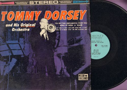 Dorsey, Tommy & His Orchestra Featuring Frank Sinatra - Dorsey, Tommy & His Original Orchestra: I'm Getting Sentimental Over You, Marie, Rings On The Fingers (Vinyl STEREO LP record) - EX8/EX8 - LP Records