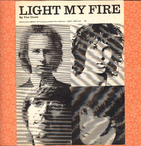 Doors - Light My Fire - SHEET Music for the Psychedelic Rock Classic. GREAT cover art featuring the Legendary Group! - EX8/ - Sheet Music