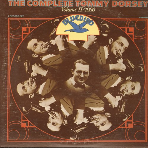 Dorsey, Tommy - The Complete Tommy Dorsey Vol II/1936: For Sentimental Reasons, Long Ago And Far Away, San Francisco, Maple Leaf Rag, Stardust (2 vinyl LP record set, gate-fold cover)  - M10/EX8 - LP Records