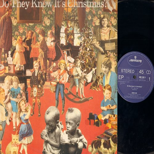 Band Aid - Do They Know It's Christmas (6:16 minutes)/Do They Know It's Christmas (3:55 minutes)/Feed The World (4:19 minutes) (12 inch 45rpm Maxi with picture cover, Made in Holland) - NM9/EX8 - Maxi Singles