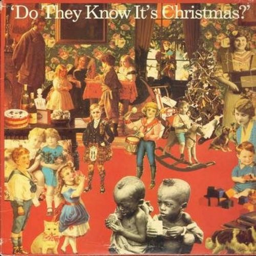 Band Aid - Do They Know It's Christmas (6:16 minutes)/Do They Know It's Christmas (3:50 minutes)/Feed The World (4:15 minutes) (12 inch 33rpm Maxi Single with picture cover) - M10/EX8 - Maxi Singles