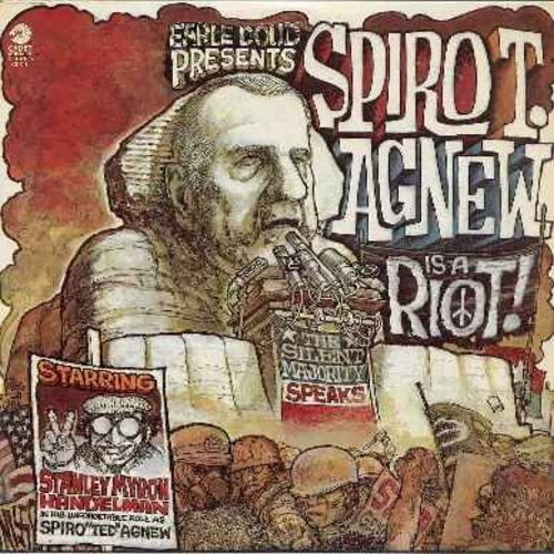 Doud, Earle - Spiro T. Agnew Is A Riot! - The Silent Majority Speaks - Another politicaly incorrect comedy LP inspired by famous American political figures of the early 1970s (Vinyl LP record, bb) - NM9/EX8 - LP Records