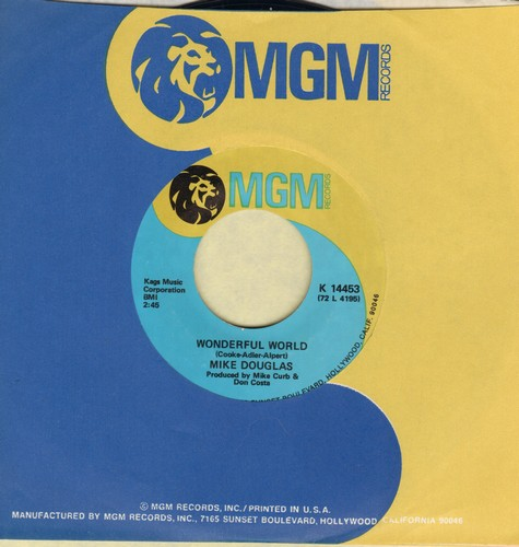 Douglas, Mike - Wonderful World/Old Buttermilk Sky (with MGM company sleeve) - NM9/ - 45 rpm Records