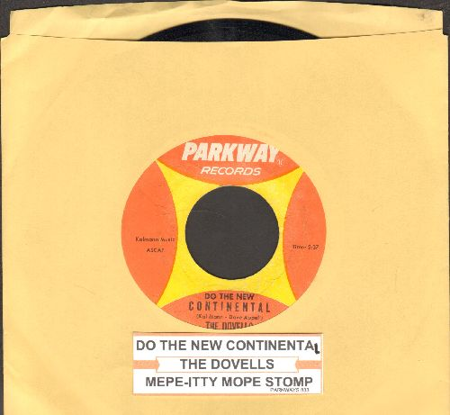 Dovells - Do The New Continental/Mope-Itty Mope Stomp (with juke box label)(wol) - NM9/ - 45 rpm Records