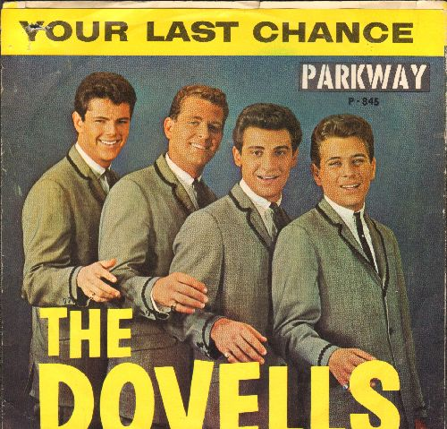 Dovells - Hully Gully Baby/Your Last Chance (with picture sleeve and juke box label) - NM9/VG7 - 45 rpm Records