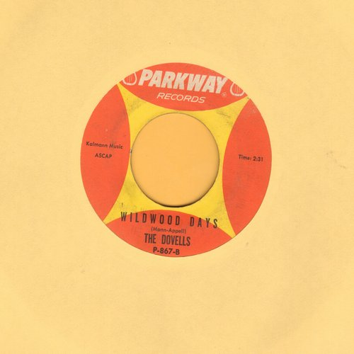 Dovells - Wildwood Days (RARE flip-side)/You Can't Sit Down (wol) - EX8/ - 45 rpm Records