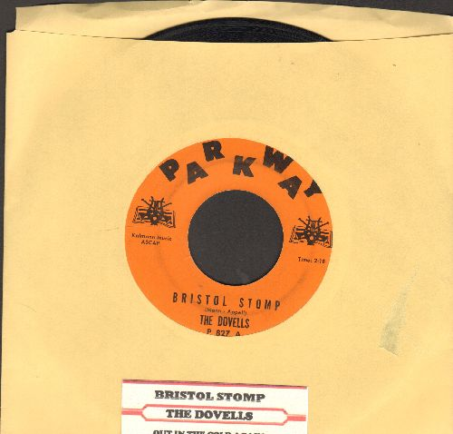 Dovells - Bristol Stomp/Letter Of Love (RARE early pressing, solid orange cover, black logo with musical instrumenta on each side, with juke box label) - EX8/ - 45 rpm Records