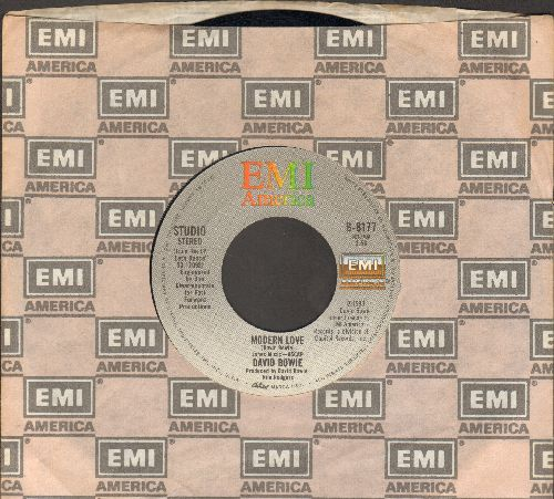 Bowie, David - Modern Love (LIVE and Studio Version) (with EMI company sleeve) - VG7/ - 45 rpm Records