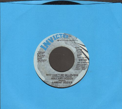 Holland-Dozier featuring Lamont Dozier - Why Can't We Be Lovers/Don't Leave Me (Instrumental) - EX8/ - 45 rpm Records