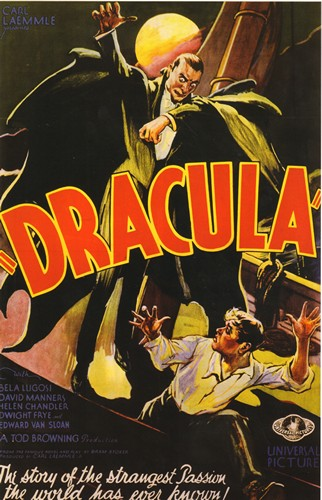 Dracula - Dracula (1931) - Classic Movie Poster. 12 X 16 inch full-color reproduction on heavy card board, suitable for framing!  - M10/ - Poster