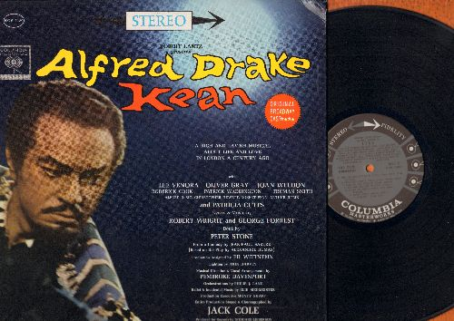 Drake, Alfred - Robert Lantz presents Alfred Drake in Kean - featuring Original Broadway Cast (Vinyl STEREO LP record, black/gray label with 6 white eyes first pressing, gate-fold cover) - NM9/NM9 - LP Records