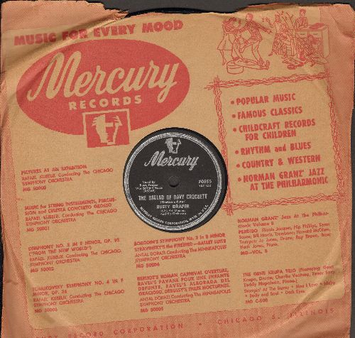 Draper, Rusty - The Ballad Of Davy Crockett/I've Been Thinking (10 inch 78 rpm record with Mercury company sleeve, NICE condition!) - NM9/ - 78 rpm