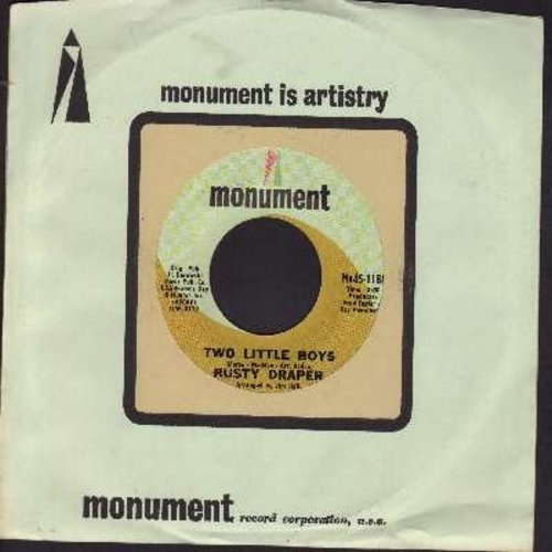 Draper, Rusty - Two Little Boys (Had Two Little Toys) (ULTRA-SENTIMENTAL folk song about childhood friends facing the the horrors of war)/It Don't Mean A Thing To Me (with vintage Monument company sleeve) - NM9/ - 45 rpm Records