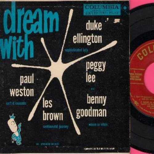 Weston, Paul, Duke Ellington, Peggy Lee, Benny Goodman, Les Brown - Mr. Powermite Presents: Dream With A General Electric Flash Bulb Limited Edition - Isn't It Romantic/Where Or When/Sentimental Journey/Sophisticated Lady (Vinyl EP record with picture cov