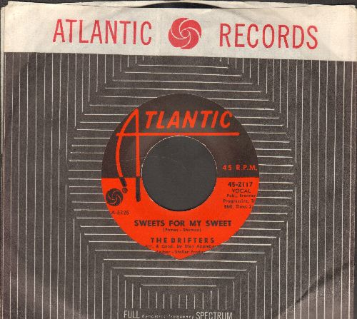 Drifters - Sweets For My Sweet/Loneliness Or Happiness (with RARE vintage Atlantic company sleeve) - EX8/ - 45 rpm Records