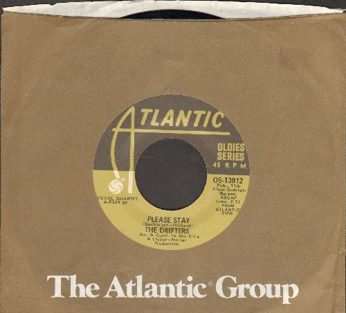 Drifters - Please Stay/Up On The Roof (double-hit re-issue with Atlantic company sleeve) - EX8/ - 45 rpm Records