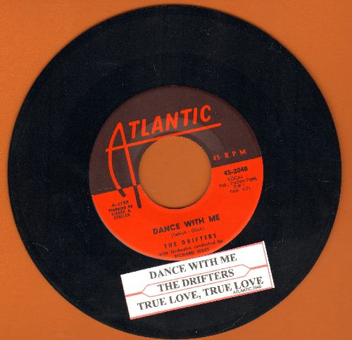 Drifters - Dance With Me/True Love, True Love (with juke box label) - NM9/ - 45 rpm Records