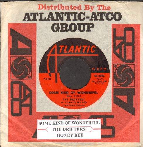 Drifters - Some Kind Of Wonderful/Honey Bee (with juke box label and vintage Atlantic company sleeve) - NM9/ - 45 rpm Records