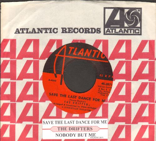 Drifters - Save The Last Dance For Me/Nobody But Me (with juke box label and Atlantic company sleeve) - NM9/ - 45 rpm Records