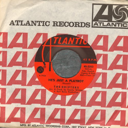 Drifters - He's Just A Playboy/I've Got Sand In My Shoes (with Atlantic company sleeve) - NM9/ - 45 rpm Records