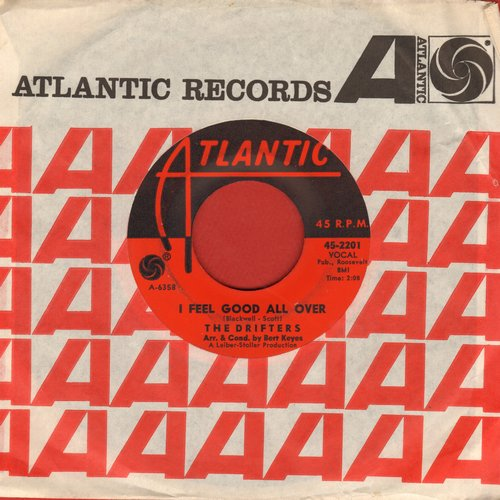 Drifters - I Feel Good All Over/I'll Take You Home (with Atlantic company sleeve) - VG7/ - 45 rpm Records