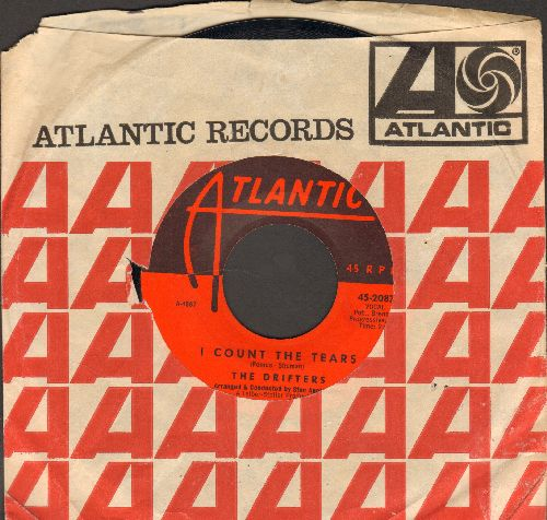 Drifters - I Count The Tears/Suddenly There's A Valley (with Atlantic company sleeve) - EX8/ - 45 rpm Records