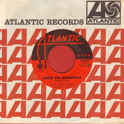Drifters - Under The Board Walk/I Don't Want To Go On Without You (with vintage Atlantic company sleeve) (wol) - EX8/ - 45 rpm Records